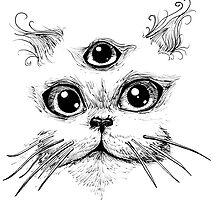 Kitty Jenkins Cosmic Cat by worldbeast