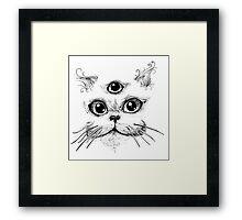 Kitty Jenkins Cosmic Cat Framed Print