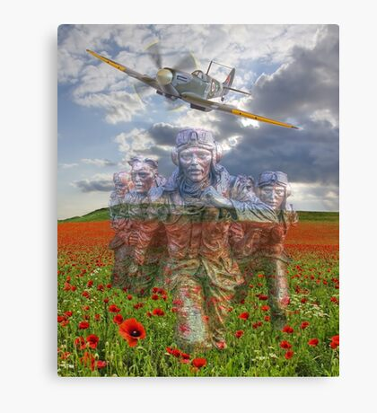 """We Remember The """"Few"""" 75 Years Ago Canvas Print"""