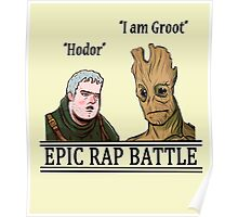 Epic Rap Battle: Groot vs. Hodor Poster