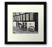 His and Hers Bicycles in Copenhagen  Framed Print