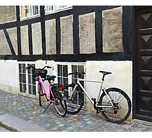 His and Hers Bicycles in Copenhagen  Photographic Print