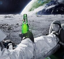 Beer on the Moon Sticker