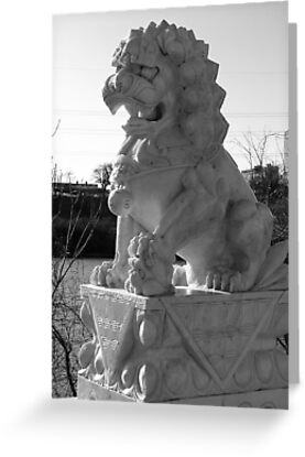 Japanese Lion Statue by SBrown