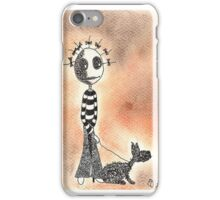 WALKING THE DOG iPhone Case/Skin