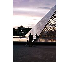 Bicycles at the Louvre Photographic Print
