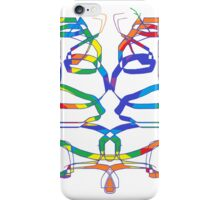 Rainbow Ribbons (Inspired by Calligraphy) iPhone Case/Skin