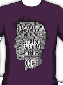 Typography Tyler Durden Uncensored T-Shirt