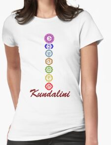 Kundalini Chakaras Womens Fitted T-Shirt