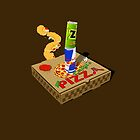 Retro Gaming Session -Pizza joystick- by R-evolution GFX
