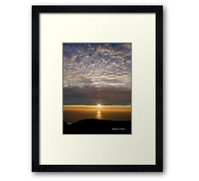 San Francisco Sunset 1504 Framed Print