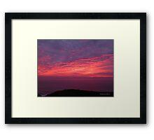San Francisco Sunset 1506 Framed Print