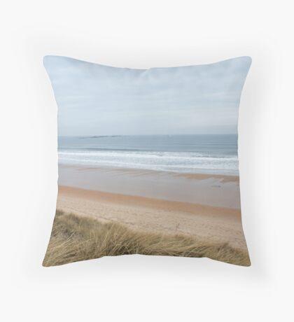 Northumberland Beach  Throw Pillow