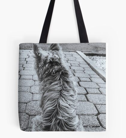 Puppy Blues Tote Bag