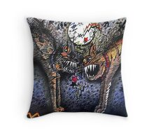 CATFIGHT Throw Pillow