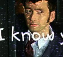 """""""Do I Know You?"""" - Dr. Who (RQ) Sticker"""