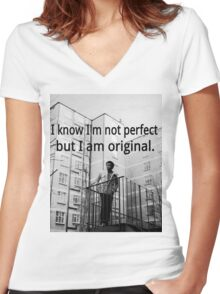 Childish Gambino- Difference Women's Fitted V-Neck T-Shirt