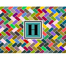 H Monogram Photographic Print