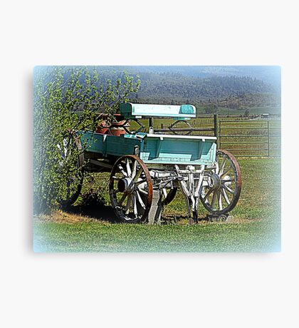 Waiting for horses Metal Print