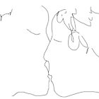 The Kiss 01a -(100415)- Mouse drawn/MS Paint by paulramnora