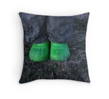 Boots at Rest Throw Pillow