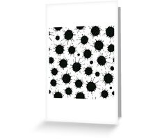 Ink spots Greeting Card