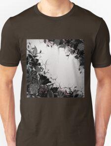 Grunge Flower Frame Unisex T-Shirt
