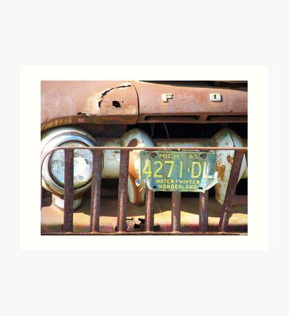 Rusty Grill Art Print