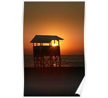 Evening on Playa Zicatela Poster