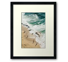 Beach birds eye view Framed Print