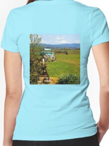 A place with a view Women's Fitted V-Neck T-Shirt