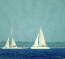 Two sailboat Sticker