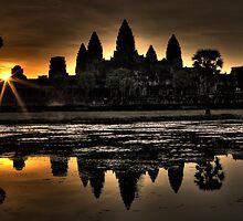 Sunrise over Angkor Wat by Jeanne Frasse