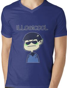 illogicool Mens V-Neck T-Shirt