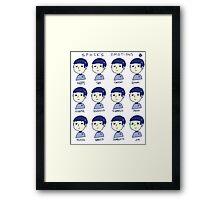 spocks emotions Framed Print