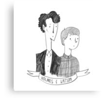 Holmes and Watson Canvas Print