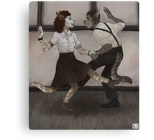 silly swingers Canvas Print