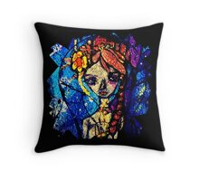 mermaid in light bulb Throw Pillow