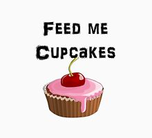 Iskybibblle Products / Feed me Cupcakes/ Black Womens Fitted T-Shirt