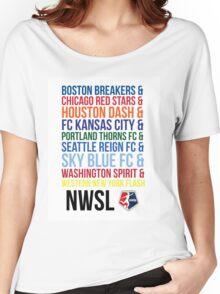 National Women's Soccer League Teams Women's Relaxed Fit T-Shirt