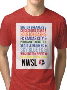 National Women's Soccer League Teams Tri-blend T-Shirt