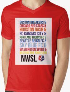 National Women's Soccer League Teams Mens V-Neck T-Shirt