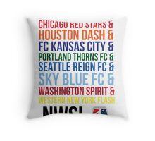 National Women's Soccer League Teams Throw Pillow
