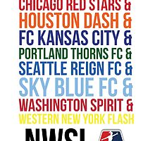 National Women's Soccer League Teams by smwgracer