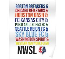 National Women's Soccer League Teams Poster