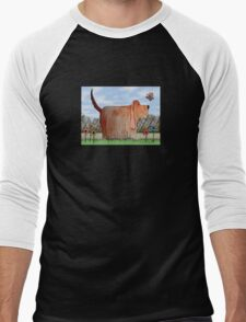 Backyard Wilbur Men's Baseball ¾ T-Shirt