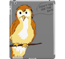Natural Warning Signs iPad Case/Skin