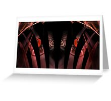 Vermilion Graffiti Greeting Card