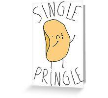 Single Pringle  Greeting Card