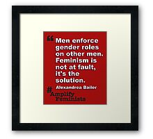 It's The Solution Framed Print